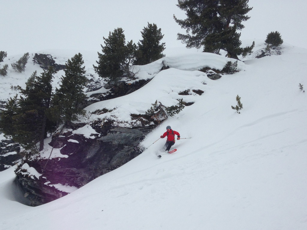 tasty! (skier: S. Waud; photo credit: J. Chung)