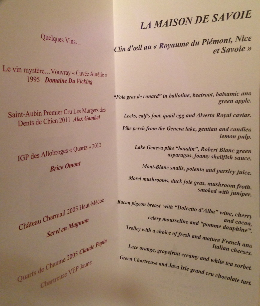 le menu (photo credit: J. Chung)