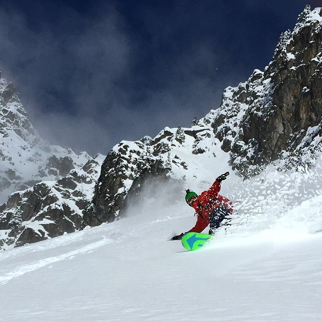 shreddin' it (rider: J. Auerbach; photo credit: S. Waud)