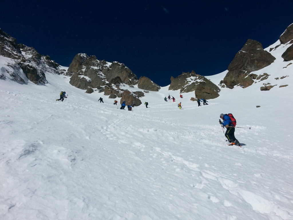 Heading up to Le Col des Crochues (photo credit: J. Auerbach)