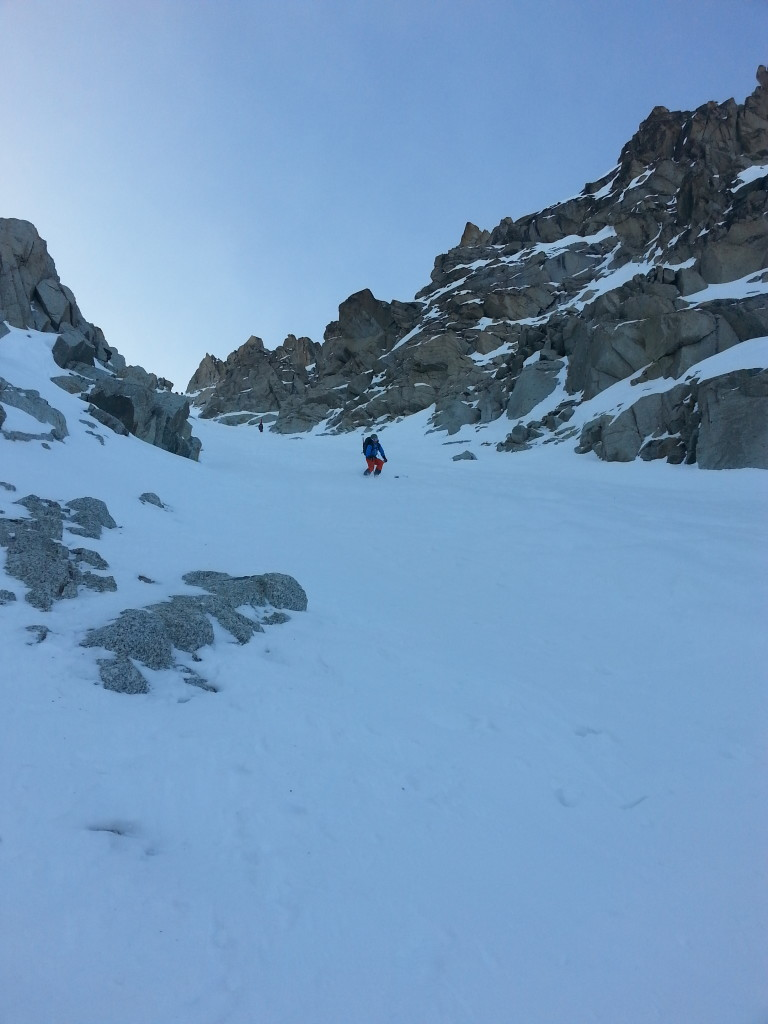 Upper part of the couloir. Skier: S. Whitlock