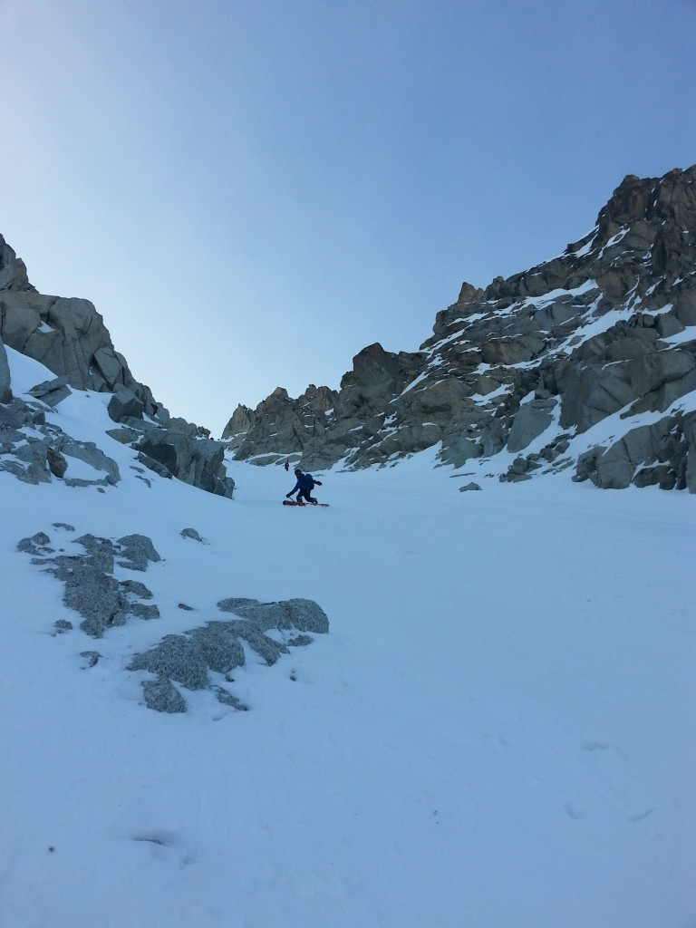 Upper part of the couloir. Rider: L. Porter