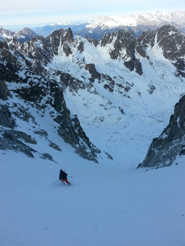 Lower down. Skier: S. Whitlock